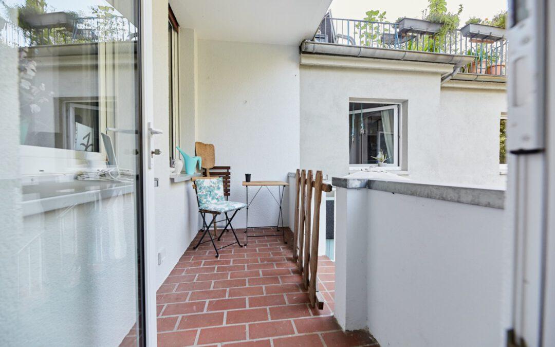 + Erfolgreich vermietet: Klein + Fein + Mein + Balkon +